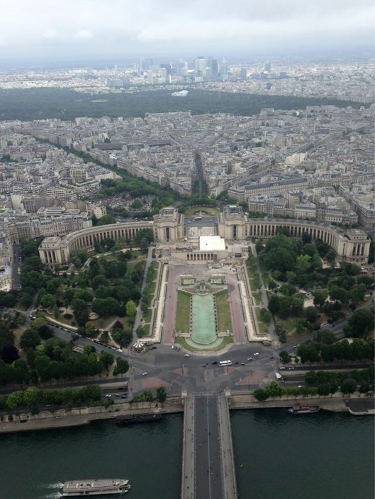 View from the top section of the Eiffel Tower