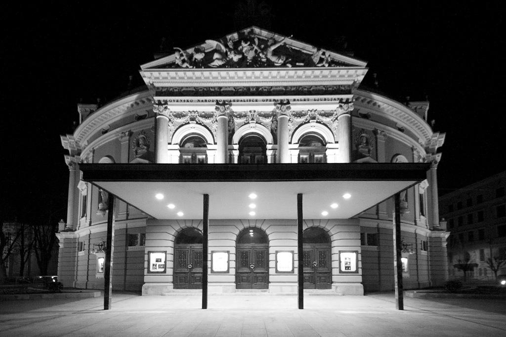 Ljubljana's iconic opera house